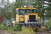 VR Track Tka7 crane fitted diesel 221 languishes in the yard at Kouvola on 8 August 2012