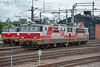 Sr1 3065 and 3104 are prepared in the depot yard at Kouvola on 8 August 2012