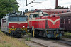 Sitting in the sidings alongside the station and depot at Riihimaki on 8 August 2012 were Sr1 3063 and Dv12 2713