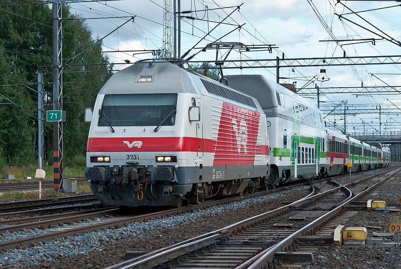 Sr2 3231 heads IC55 at Riihimaki on 9 August 2012