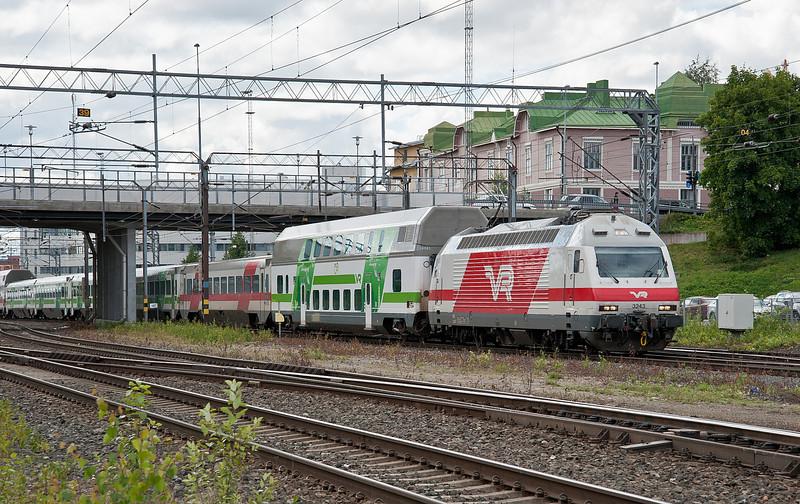 Sr2 3243 arrives at Tampere on 9 August 2012