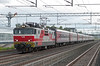 The evening Moscow service passes Kerava on 8 August 2012 behind Sr1 3018