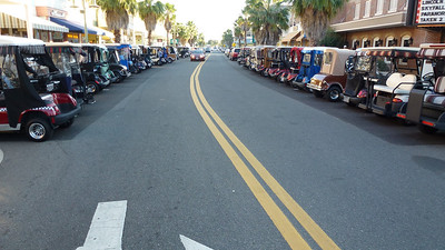 In the Villages there are golf carts everywhere, some 30000 of them.