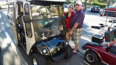 Jim found a golf cart with his name on it.