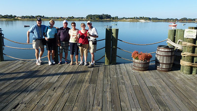 """The """"gang"""" getting ready for a boat ride on Lake Sumter in The Villages."""