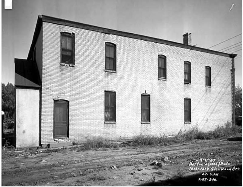 Building at 1216-1218 Glenwood Avenue - - - 1957