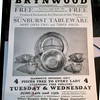 Tableware sales at Brynwood Theatre - - - c.1955?