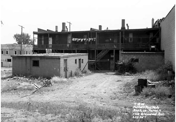 Rear of building at 1408 Glenwood Avenue  ---  1958