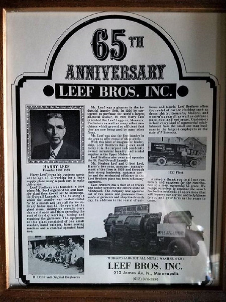 Leef Bros. Inc.  --  65th Anniversary