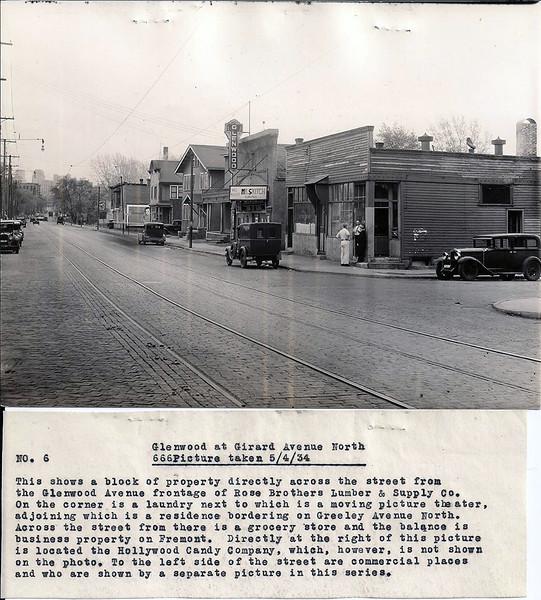 Glenwood Avenue at Girard Avenue North - May 4, 1934