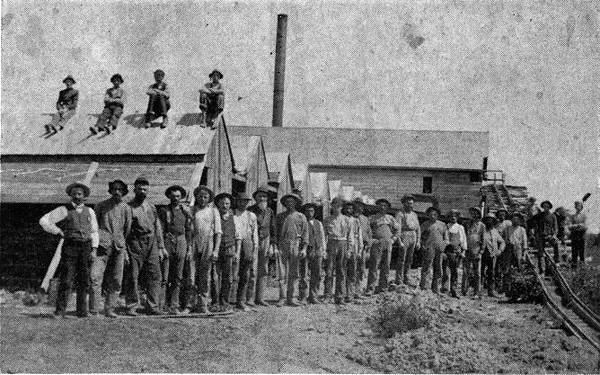 Finnish workmen at brick factory in Minneapolis