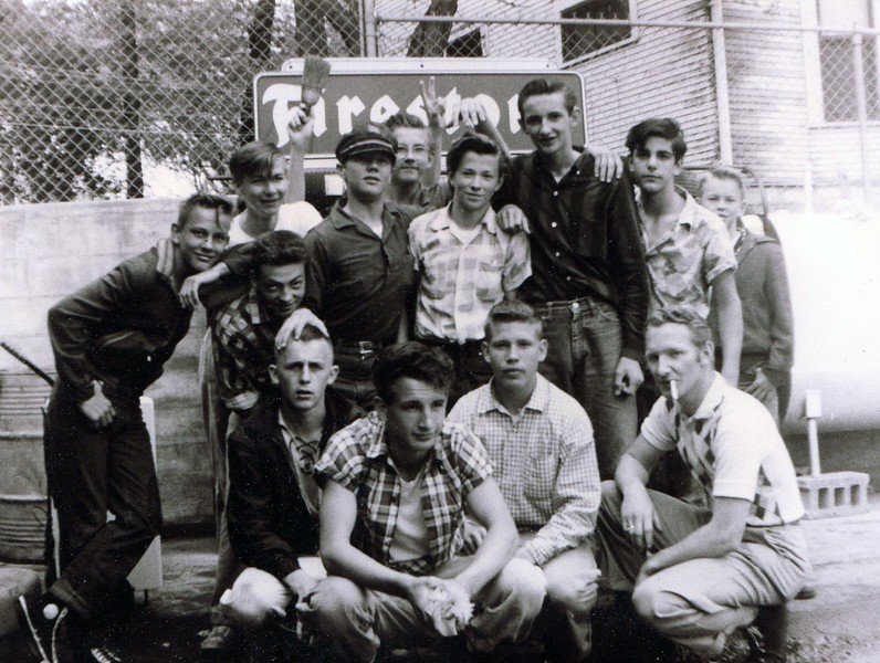 c.1957 - A Glenwood Ave. group of boys - called themselves 'The Diablos'