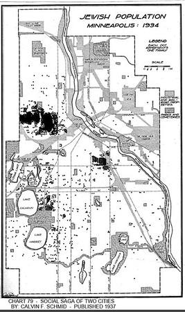 Minneapolis Jewish population in 1934