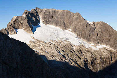 North East Face of Mt Patuki. Central Darran Mountains. Fiordland