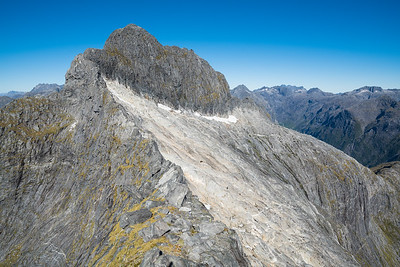 West Ridge (route of first ascent) and West Face Sheerdown Peak, Fiordland National Park.