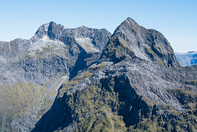 Mt Ada (left) and Odyssey (right), Sheerdown Hills, Fiordland National Park