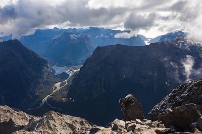 Tutko and Cleddau Valleys, Deepwater Basin, Darran Mountains, Fiordland National Park