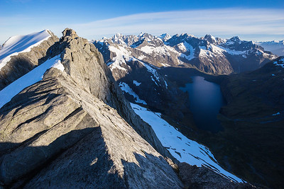 Lake Adelaide and Moraine Creek from Barrierv Knob, Darran Mountains, Fiordland National Park