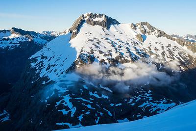 Mount Talbot, Traverse Pass and Gertrude Saddle, Darran Mountains, Fiordland National Park
