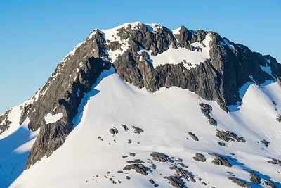 East Ridge and North Face of Mt Talbot, Darran Mountains, Fiordland National Park