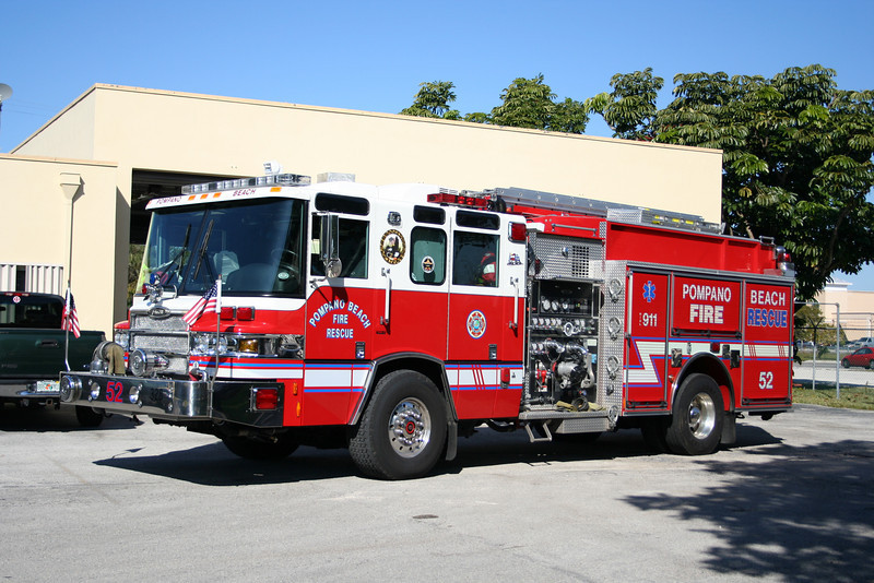Pompano Beach Florida Engine 52 - 2009 Pierce Quantum 1500/750