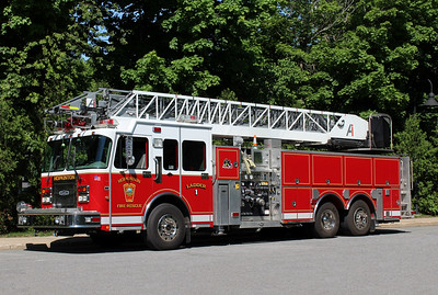 Hopkinton Mass Ladder 1 - 1999 Spartan  / Quality / Aerial Innovations 1250/500/105' Aerial.  ** Acquired 2016, Former Cutlerville, Michigan Ladder 37.