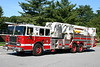 Lynnfield Mass Ladder 1 - 2007 Seagrave 100' Tower.<br /> <br /> Originally sold to East Hartford CT who refused to accept the aerial.<br /> Special Thanks to LFD Capt Burnham and his warm personality.