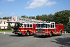 Marlborough Mass - New Deliveries<br /> <br /> Engine 3 - 2009 E-One Typhoon 1500/730/30A/20B <br /> Tower 1 - 2009 E-One Cyclone II 100' Tower
