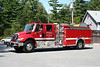 Pepperell Mass Engine 1 - 2006 International 4400 / E-One 1750/750 with 3000 Reel of Large Diameter Hose.