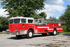 Sturbridge Mass Former Ladder 1 - 1976 Maxim-F 100' Aerial. Originally served Oxford Mass.