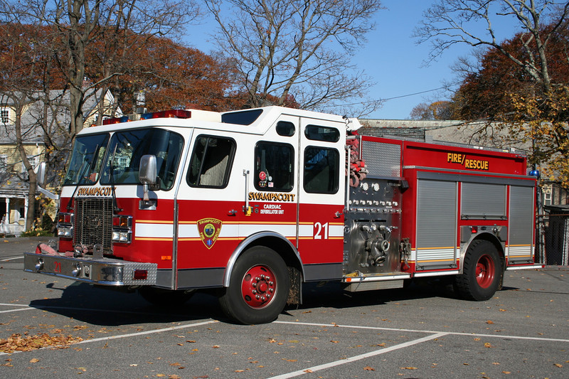 Swampscott Mass Engine 21 - 1997 E-One Sentry II 1250/750<br /> ** Replaced 2009 & Reassigned as Engine 22 **