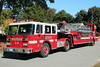 Waltham Mass Ladder 3 - 2005 Pierce Arrow / EJ Murphy Tractor w/1983 Maxim Trailer 100' Aerial.<br /> <br /> Rig was purchased used from Salem Mass and the stick from <br /> Waltham Lad 2s 1982 Maxim-F was remounted on the 1983 trailer.