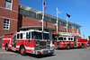 Wellesley Mass Engine 1 & Quint 3 perfectly posed in front of their HQ.