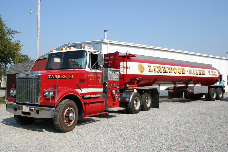 Linkwood Maryland - Linkwood Salem VFC Tanker 61 - 1984 White 1500/6000<br /> <br /> ** Tractor donated in 1999 by Local International dealer. Trailer donated by Hess. Refirb of entire rig by Delmarva (AKA Beaverbilt).