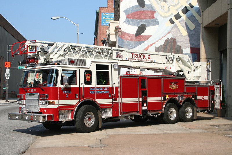Baltimore City Maryland Truck 2 - 2007 Pierce Arrow XT 105' Aerial<br /> ** Now Disbanded **