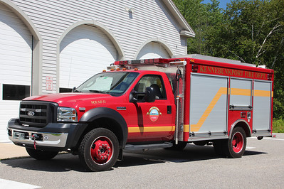 Kennebunkport Maine Squad 11 - 2006 Ford F-550 / Pierce  ** Acquired in 2013 from a FD in Pennsylvania. ** First red rig in the Village Station. Old Color Scheme is all White