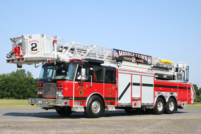 Middletown Rhode Island Tower Ladder 2 - 2012 E-One Cyclone II 100' Tower