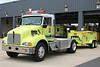 Dulles Intl Airport Foam Support 344 - 2006 Kenworth T300 with 1996 United Plastics 1000 Class B Trailer. (Tractor normally pulls the MCI Unit)