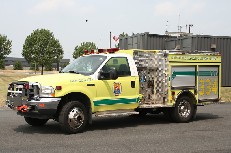Dulles International Airport VA Unit 334 - 2001 Ford F550 / Pierce 280/300<br /> (Currently used by EMS 302)