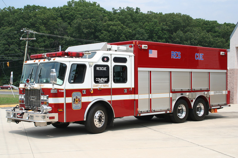 Fairfax County, VA Reserve Squad - 2001 E-One 250/200 Heavy Rescue.<br /> Former Squad 439 (North Point) - Recently Replaced.