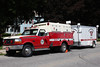 North Bennington Vermont Utility 58 - 1992 Ford F-350 / Reynolds with Water Rescue Trailer.
