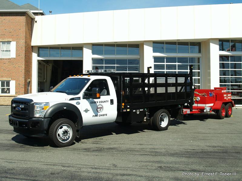 Foam 5 - 2015 Ford F-550 with District 5 foam trailer