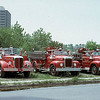 East Hartford, Ct's former mack engine's. I believe the engine on the left operated as the squad after first being assigned to Engine 1 when new. Picture provided by Kenneth Beliveau
