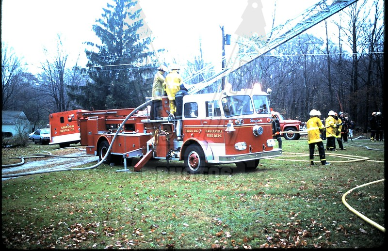 Mansfield, Ct (Eagleville FD) Truck 207. This ladder co. is no longer in service.