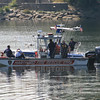 Hartford, CT FD Boat along side Connecticut State Police boat