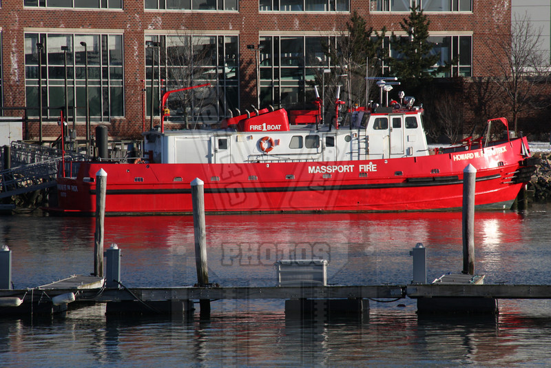 Massport fireboat #1 located at Logan airport in Boston, Ma