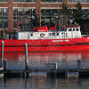 Massport fireboat #1 located at Logan airport in Boston, Ma
