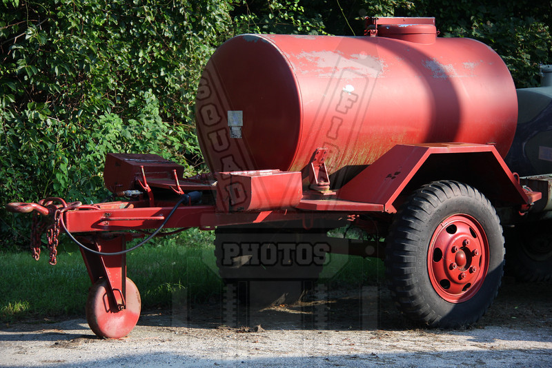 What I think is a water trailer that was parker next to a former firehouse in Barnstable, Ma.