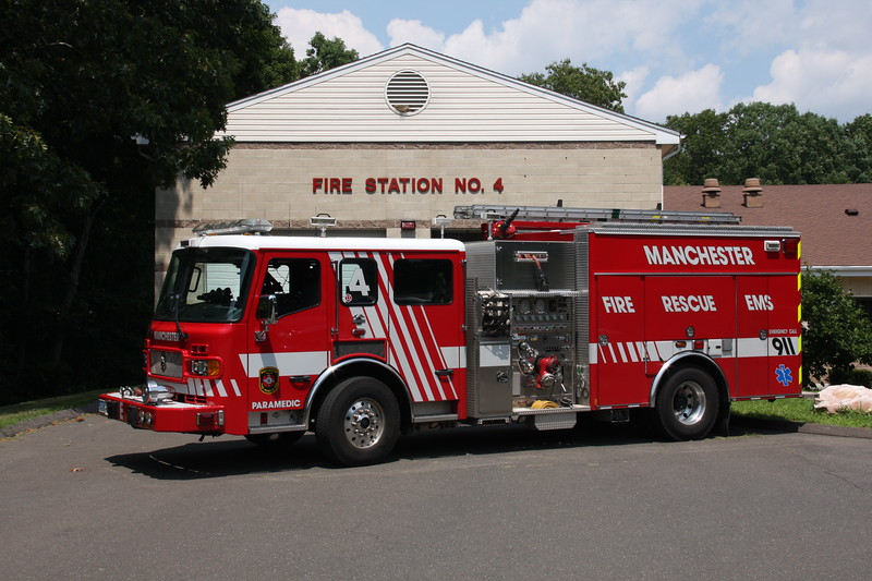 Manchester, Ct Fire Rescue EMS Engine 4