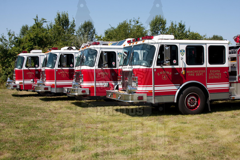 8th District Fire Dept. (Manchester, Ct). Their E-One line up.